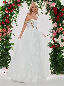 Beading Off the Shoulder Lace Wedding Dress