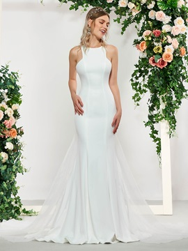 Mermaid Wedding Dress 2019 with Detachable Train