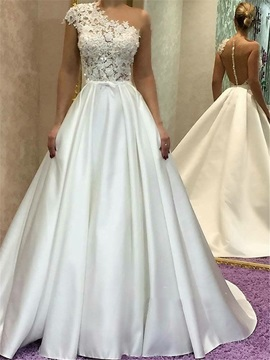Button Lace Appliques Cap Sleeves Wedding Dress & inexpensive Wedding Dresses