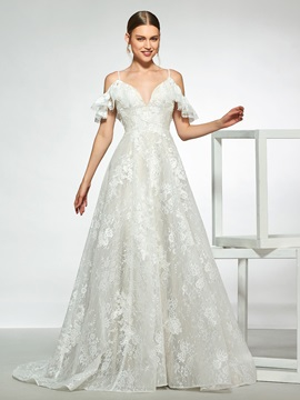 Open Shoulder Lace Wedding Dress 2019