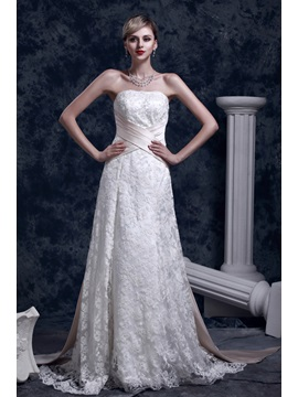 Elegant Slight A-Line Strapless Court Dasha's Wedding Dress & vintage style Wedding Dresses