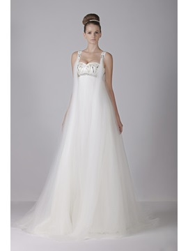 Glamorous Sweetheart Empire Floor-Length Tulle Watteau Train Aleksander's Wedding Dress & Wedding Dresses on sale