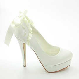 Platform Ruched Satin Prom/Evening Shoes