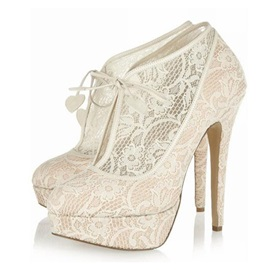 Sexy Lace Upper Platform Stiletto Heels Prom Shoes
