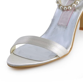 Celebrity Pearl Belt Bow Wedding/Prom Shoes