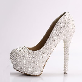 Luxurious Diamond Stiletto Heel Wedding Shoes
