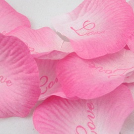 Eye-catching Graduate Color Pink Wedding Rose Petals