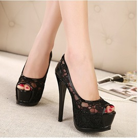 Fashion Simple Style Peep-toe Platform Wedding Shoes