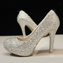 Gorgeous Rhinestone Platform Wedding Shoes