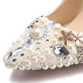 Rhinestone Ultra-High Heel Pumps