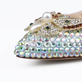 PU Beads Rhinestone Wedding Shoes