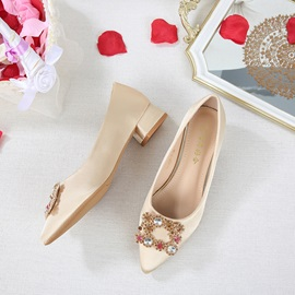 Beads Low Heel Cloth Thin Shoes Wedding Shoes