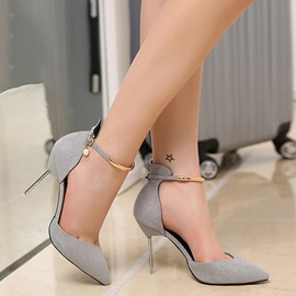 Buckle Ultra-High Heel Thin Shoes PU Wedding Shoes