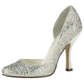 Noble Sparkling Glitter Upper Spool Heel Closed-toes Wedding/Prom Shoes