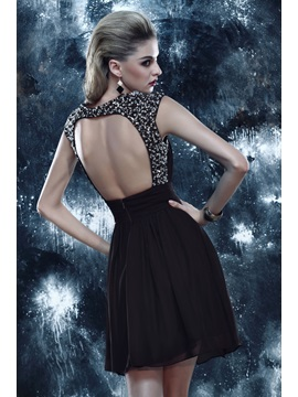Modern A-Line Backless Sequins Beading Short Dasha's Cocktail Dress