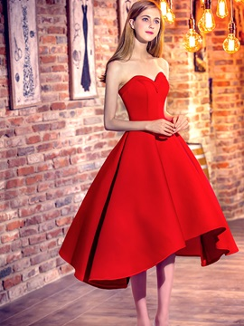 Amazing Sweetheart A-Line Lace-Up Red Homecoming Dress