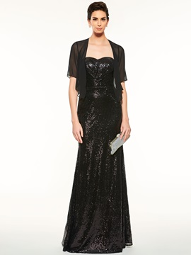 Sequins Mother of the Bride Dress with Jacket