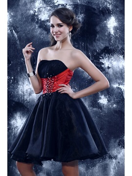 Glamorous Beading A-line Strapless Sandra's Short Sweet 16 Dress