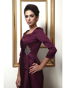 Delicated Sequins Square Neck 3/4 Length Sleeve Taline's Mother of the Bride Dress
