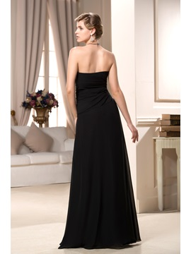 Remarkable Pleats A-Line Strapless Floor-Length Mother of the Bride Dress