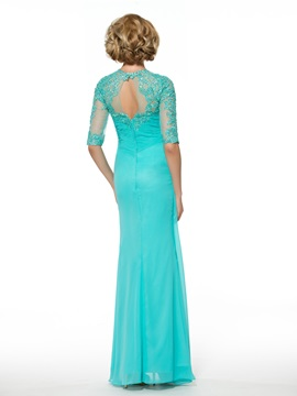 Half Sleeve Lace Sheath Mother of the Bride Dress