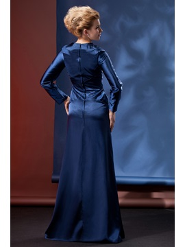 Modest and Dignified Column Floor-Length Alina's Mother Evening Dress