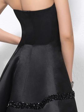 Modern A-Line Strapless Beading Short/Mini Cocktail Dress Designed
