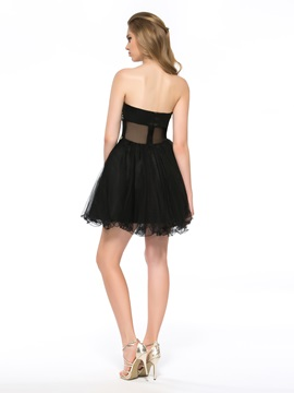 Sensual A-Line Ruffles Beading Short Cocktail Dress