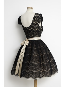 Cool Cap Sleeves Pearls Sashes Little Black Dress