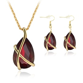 Elegant Alloy Women Jewelry Set ( Including Necklace and Earrings )