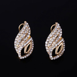 E-plating Hollow with Rhinestones Women Jewelry Set