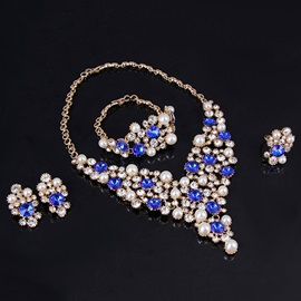 Beautiful Gemstone & Pearl Jewelry Set