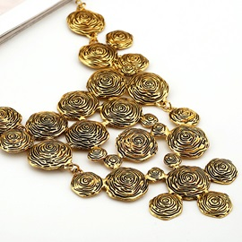 Vintage Metal Long Circle Women Jewellery Set