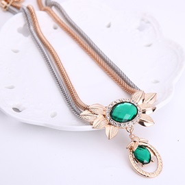 Gold Plated Emerald Jewelry Set