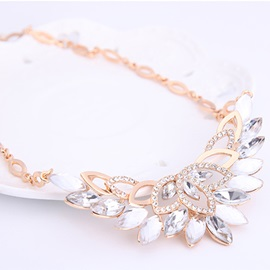 European Imitation Diamond Women Jewelry Set