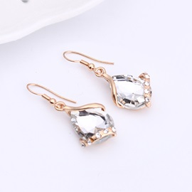 Alloy Water Drop Shaped Jewelry Set