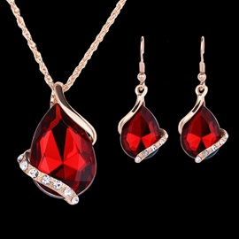 Water Drop Shaped Jewelry Set for Women