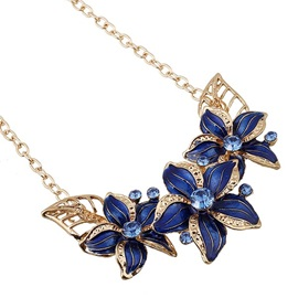 Alloy Oil Drip Flowers Hollow Jewelry Set for Women
