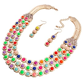 Multilayer Alloy Resin Jewelry Set