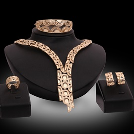 High Quality Golden Plated Jewelry Set
