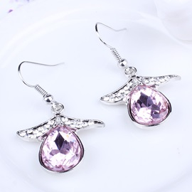 Angel Wings & Water Droplets Diamante Jewelry Set