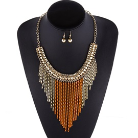 Classic Alloy Tassels Jewelry Set(Including Necklace & Earrings)