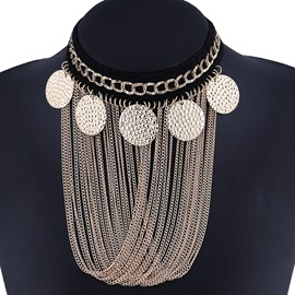 Alloy Sequined Tassels Jewelry Set
