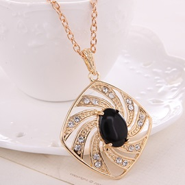 African Style Hollow out Imitation Diamond Jewelry Set