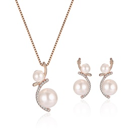 Pearl Pendant Alloy Jewelry Sets