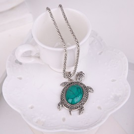 Sea Turtle Shaped Turquoise E-Plating Alloy Three-Piece Jewelry Sets