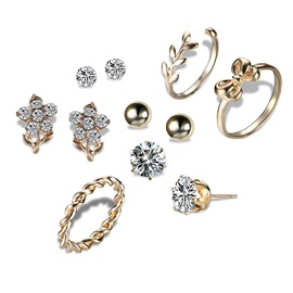 Hot Sale Vintage Diamante Stud Earrings Combination Sets
