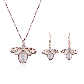 Bee Shape Pendant Necklaces Jewelry Sets