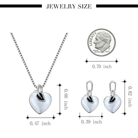 Heart Shape Alloy Pendant Necklaces Jewelry Sets