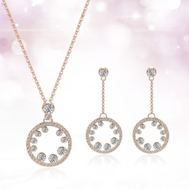 Hollow Circle Design Alloy E-plating Alloy Jewelry Sets
